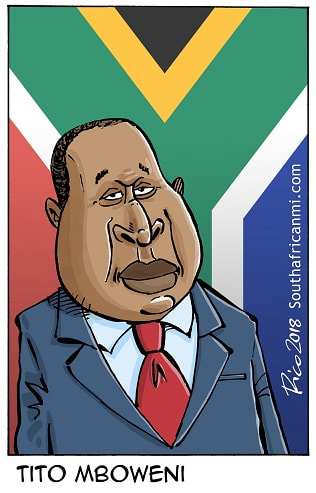 South Africa's finance minister Tito Mboweni
