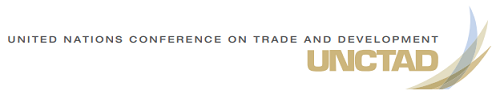 UNCTAD logo and trade and development report
